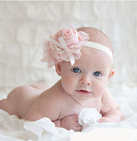 Headbands baby girl flowers - Hot Baby Girls Kids Lovely Roses Pearls Hair Bands Vintage Flowers Hair Accessories Pretty Headbands Infant Headbands Color B0151