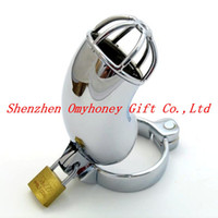 Wholesale New Male Stainles Steel Lockable Chastity Devices Chastity Belt Sex Toys for Men Penis Cage Cock Cage M100