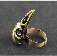 Wholesale Sample Order Punk Bird Skull Finger Rings Vintage Fashion Gothic Rings
