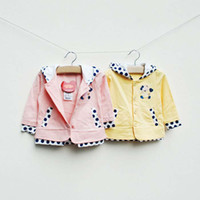Wholesale Girls Hoodie Kids Casual Cardigan Fashion Polka Dot Coats Children Hoodie Sweatshirts Child Wear Long Sleeve Hooded Tops Coat Girl Clothes