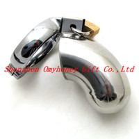 Wholesale The Brig Male Male Lockable Chastity Device The Houdini Chastity Tube Stainless Steel Chastity Cage Belt Penis Cage Cock Cage smg218
