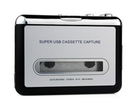 Wholesale USB Cassette to MP3 Converter Capture Tape to PC Audio Music Player CD D2056D