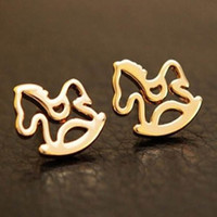 Wholesale Horse Earrings fashion wedding earrings jewelry charm stud earring
