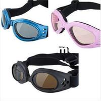 al por mayor gafas para perros-Envío gratuito de los Tres Colores de los Ojos Protección contra el Desgaste Mascota Gafas Doggles Perro Gafas de sol UV