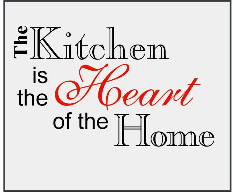 Heart-Of-The-Home Wall Art KITCHEN HEART OF THE HOME