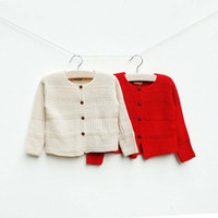 4T-5T children fashion sweater - Child Clothing Knitted Sweaters Girls Coat Children Cardigan Wool Sweaters Fashion Casual Cardigan Kids Sweater Baby Long Sleeve Cardigan