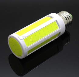 Wholesale -Super Bright 10W COB SMD LED Corn Bulb Light E27 E14 Lamp Cool Warm White 220V 110V FedEx DHL Free Ship