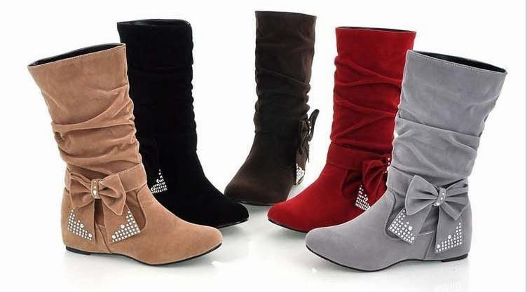 Flat Boots For Women - Cr Boot