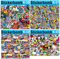 Wholesale Car Stickers Graffiti Bombing Vinyl Wrap Film for Cars Full Body Surface Vehicle Bomb Wrapping Decoration can Custom