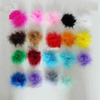 Hair Bows marabou puffs - colorful feather boa marabou puffs Feather Marabou Puff The girl hair bow Hair accessories