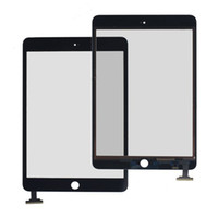 Wholesale 50PCS X White Black LCD Touch Screen Glass Digitizer Screen adhevise free Replacement Part for iPad Mini Free DHL EMS