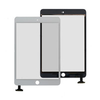 Wholesale 10pcs x White Black LCD Touch Screen Glass Digitizer Screen adhesive free Replacement Part for iPad Mini