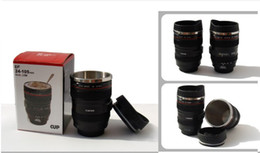 Wholesale Canon Lens Cup Novelty Gift Mug mm Stainless cup Coffee camera lens mug cup Caniam logo with Adopt Stainless Steel