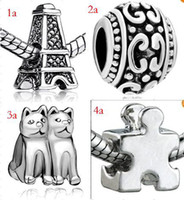 Wholesale 10 off silver charms for pandora necklace beads bead beads cheap beads jewelry beads fashion jewelry