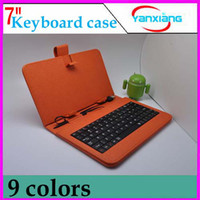 Wholesale DHL Inch Folding leather case keyboard with stand for quot epad tablet pc MID nine colors RW L11