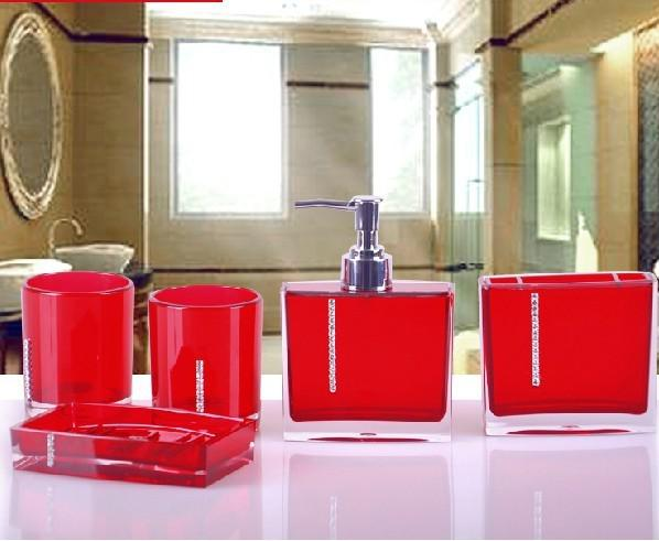 free shipping fashion 5pcs bathroom accessories sets wedding business