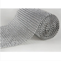 Wholesale yard X4 inch Bling Diamond mesh Wrap ribbon Rhinestone Mesh Crystal Ribbon X one roll wedding supplies