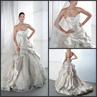 Cheap 2013 Demetrios 4311 Wedding Dress Off White Lace Ball Gown Sweetheart Layered Taffeta Court Train Ruffles Lace Up Elegant Bridal Gown Dress