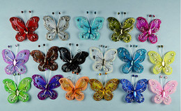 Wholesale Crystal Butterfly DIY Candy Box parts Wedding Candies Box Manual Accessories Wedding Party Gift Supplies