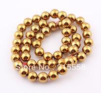 Wholesale New mm Gold Round Hematite Beads Hematite Balls Fit Shamballa Bracelet Necklace ZBE49