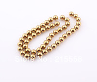 Wholesale 2013 mm Gold Hematite Loose Beads Golden Hematite Balls Fit Bracelet Jewelry Findings ZBE49