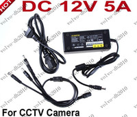 Wholesale 12V A Power adapter CH Power Supply CCTV Camera Power Box Port DC Pigtail COAT DC V LLY222