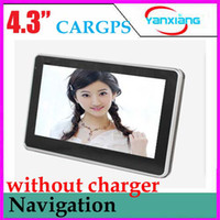 Wholesale Car GPS quot Inch Navigation System GB Free Map FM Win CE OS without charger RW GN02B