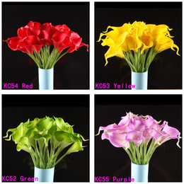 Wholesale Calla Lily Bridal Wedding Bouquet head Latex Real Touch Flower Bouquets