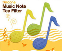 Wholesale Novelty Music Note Tea Filter Teaspoon Fashion Rose Teaspoon Filter Tea Infuser Tea Strain
