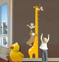Wholesale Gigraffie Height Chart Removable Wall sticker Decal Nursery Wall Art Decor Kids Room JM8242