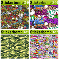Wholesale Cartoon Car Stickers Bombing Graffiti Vinyl Wrap Film on the Cars Body Vehicle Wrapping Bombing Sticker Auto Decoration can Custom