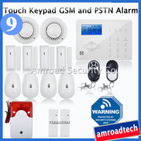 Wireless Enable/Disable Yes Touch Keypad LCD GSM PSTN Wireless Security Home Office Burglar Intruder Alarm System Auto Dial Fire Alarm w Vibration Detector iHome328GPB9