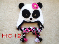Wholesale 2013 new fashion crochet baby hat children cotton striped beanies with ear baby boy girl flowers cap