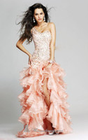 Wholesale Side Slit Pageant Dresses Sleeveless One Shoulder Sexy Miss USA