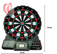 Wholesale 15 inch Professional flock printing thickening dart board set dartboard round dartboard professional round darts