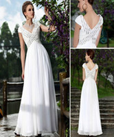Elegant white beach dress