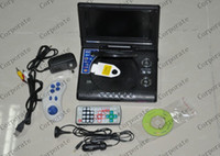 Wholesale DK2306 set portable inch DVD EVD player with TV MP3 Mp4 game hot selling