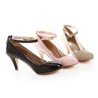 Wholesale 2013 New High quality Women s Patent Leather Two way Worn Cozy High heeled Shoes SK7829