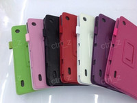 Wholesale Lychee pattern PU leather tablet cover for Acer Iconia Tab A1 for acer quot A1 stand case cover