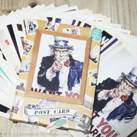 Wholesale 32pcs set World War II Classic poster Rock stars Drawing post card set postcards gift cards Christmas Card Gift