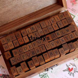 Freeshipping 70pcs set  Number and Letter Wood stamp Set Wooden Box Multi-purpose stamp DIY funny work regular script