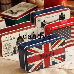 Wholesale London scene iron case earphones jewelry storage box gift tin
