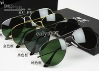 Glass Sports Pilot AAA 58mm fashion sunglasses, Men's Women's sunglasses, Sunglasses Black frame green lens R5 #30025