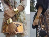 Hot Antique Charm Gold Silver Cuff Metal Bangles Bracelets G...