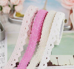 Freeshipping!New Light Colors Fabric Lace Tape Multifunction DIY Sticker Simple Tape Stationery Adhesive Tape Gifts Wholesale