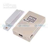 Wholesale 2013 Quad Band GSM Door Magnetic Alarm Sensor With Voice Activated Gsm voice monitor GSM Bugs SMS control Mhz TC100 v11