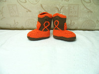 Winter baby cowboy boots - Hot Sale Crochet baby boot infant snow boots high top cowboy boot first walker shoes cotton custom pairs