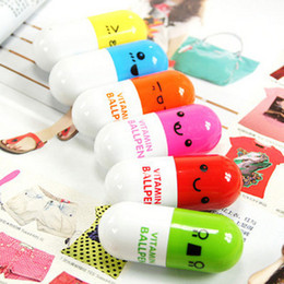 Wholesale Pill Shape Retractable Ball Point Pen Rollerball Pens Creative Stationery Children s Gifts