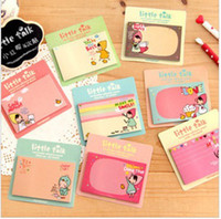 Wholesale Little red riding hood girl N times stickers sticky memo pad notes on paper memo pad different styles