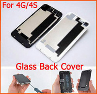 Wholesale Best quality Back Glass Battery Housing Door Cover Replacement Part for iphone S Door Back Cover Black White